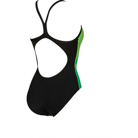 arena Spraypaint Light Drop Back Traje de baño de una pieza Mujer, green/black